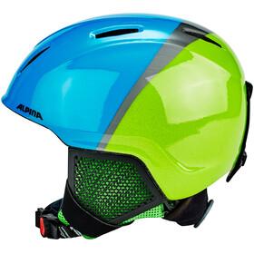 Alpina Carat LX - Casco de bicicleta Niños - verde/azul